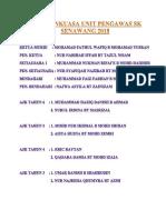 Jawatankuasa Unit Pengawas Sk Senawang 2018