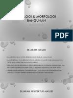 Tipologi & morfologi bangunan