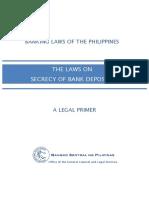RA 1405 Law on Bank Secrecy of Bank Deposits