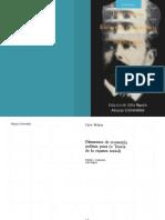 Elementos de economía política pura (o Teoría de la riqueza social).Leon Walras