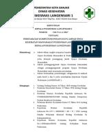 EP 5.1.1.1 SK Persyaratan Kompetensi PJ UKM