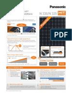 Panasonic 325 Watt Module 96 Cell Hit Black Solar Panel Specs 3206694517