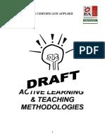 Active Learning Teaching Methodologies DRAFT