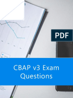 CBAP Sample Questions | Case Study Based