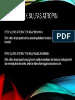 Efek sulfaS ATROPIN