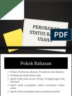 Materi 10 Dan 11 Perubahan Status Badan Usaha