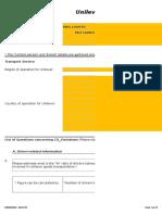 Aerodynamics Driver Training Questionnaire