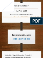 CSIR NET 2018 June Dates announced