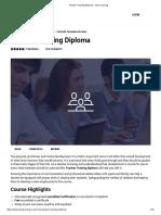 Teacher Training Diploma - Visio Learning