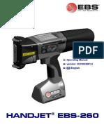 Ebs 260 Manual Handjet Portable Printer Users