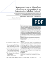 Representación social del conflicto armado colombiano en niños y niñas de un colegio adscrito a la Policía Nacional - Parra (2011)