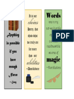 Harry Potter Book Marks