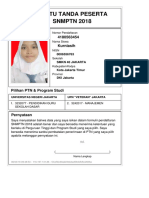 Kartu Pendaftaran SNMPTN 2018 4180563454