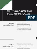 baudrillard and postmodernism 2