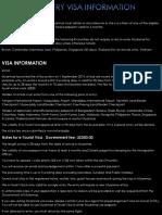 Myanmar Entry Visa Information