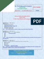 Web Design and Development - CS506 Spring 2010 Final Term Solved Mcqs