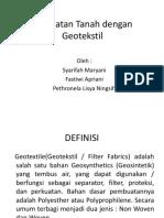 Perkuatan Tanah Dengan Geotekstil