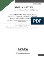 2017 Coebicula CHFPerez Historia-natural
