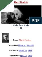 My PPT About Albert Einstein