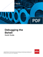 Infor LN Baan - Debugging the Bshell