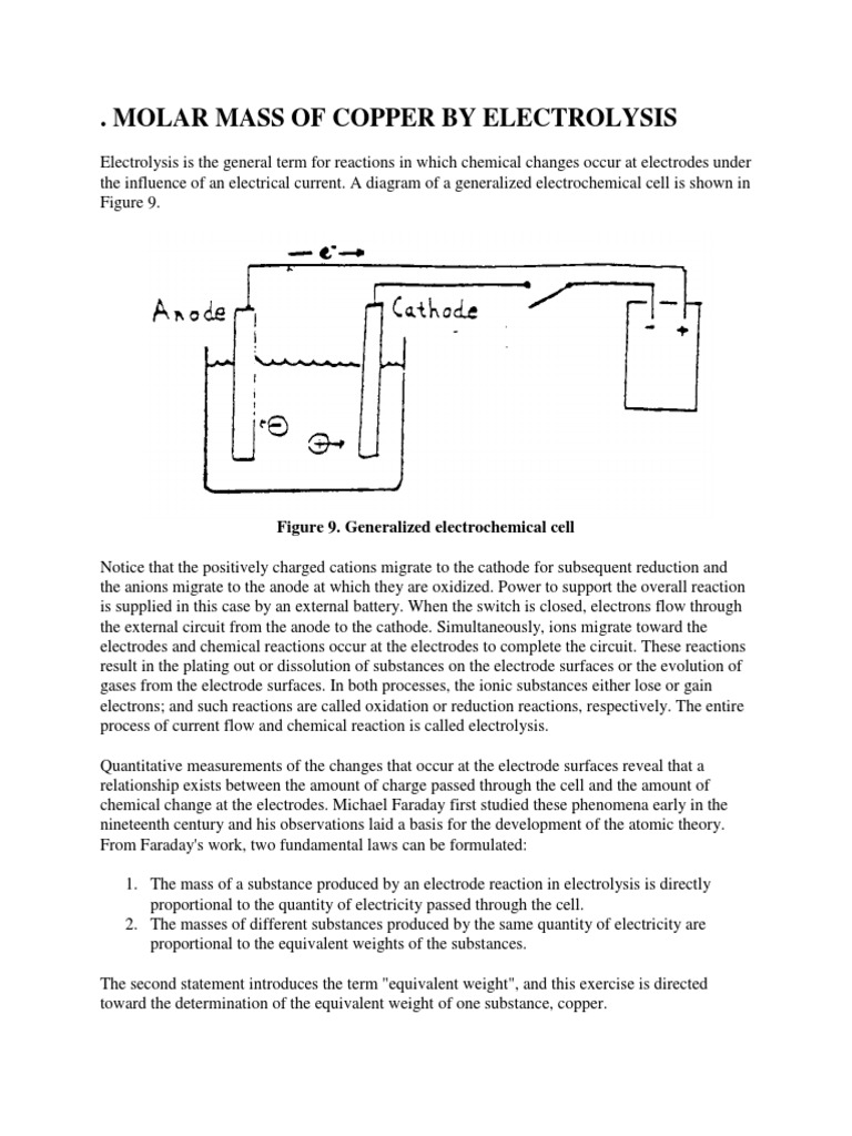 48007037-MOLAR-MASS-OF-COPPER-BY-ELECTROLYSIS docx