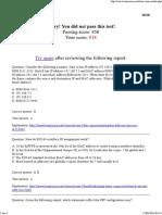 CCNA Practice Exam Results 3