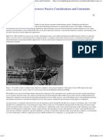 High Power RF and Microwave Passive Considerations and Constraints
