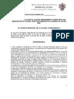 4b Proyecto de Acuerdo Pot Final La Calera 10 Junio 2010
