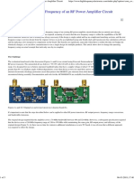 Changing the Operating Frequency of an RF Power Amplifier Circuit