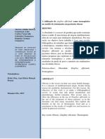 A utilização de zingiber officinale como termogênico no auxílio de tratamento em pacientes obesos