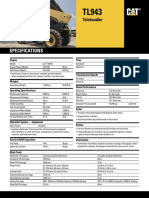Manipulador Caterpillar Tl 943 Series Spec Sheet