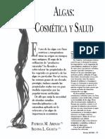 Algas en Cosmética y Salud