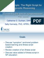 Illness Scripts_Right Script for Diagnostic Reasoning