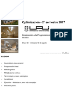 OPT - 2017 - 02 - Introducción a la Programación Lineal y Método Gráfico