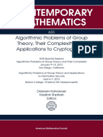 Algorithmic Problems of Group Theory, Their Complexity, And Cryptography