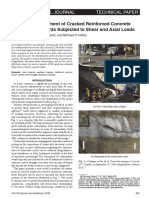2018-Model for Assessment of Cracked Reinforced Concrete Membrane Elements Subjected to Shear and Axial Loads-Calvi, Bentz and Collins