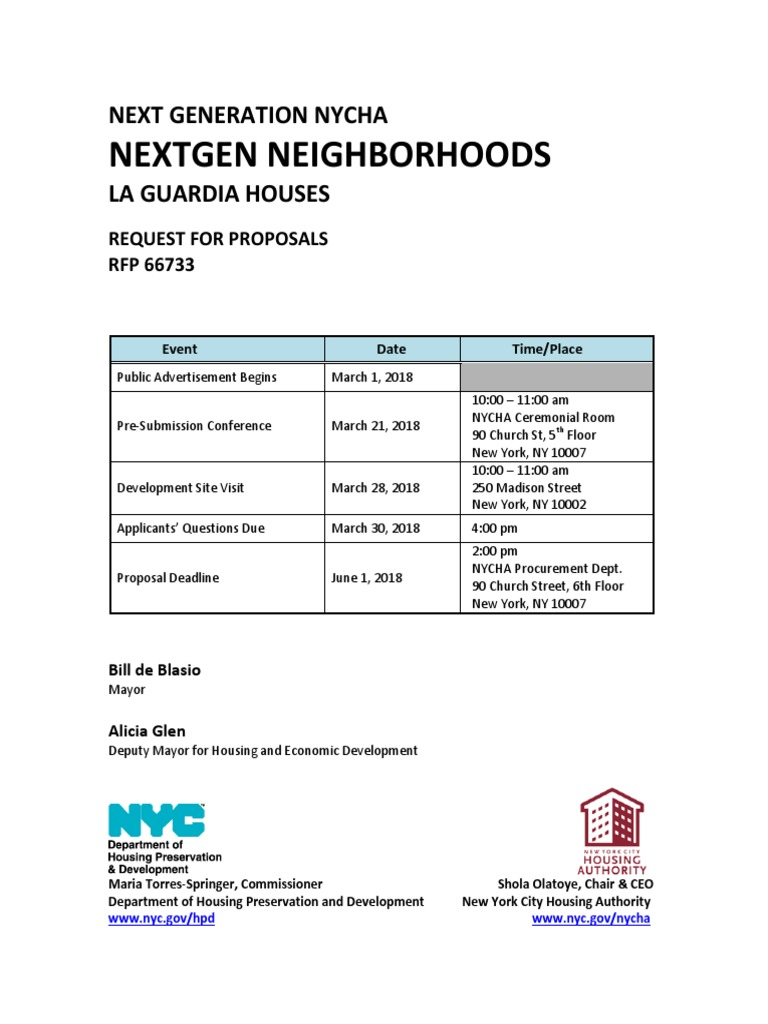 La Guardia Houses Infill Rfp Affordable Housing National