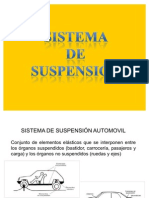 sistema de suspensión automovil