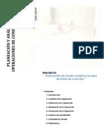 Planeacion y analisis de actividades de construccion-colocación de loseta cerámica