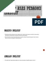Konsep Asas Pedagogi Inklusif