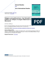 Review of International Studies Volume 38 issue 05 2012 [doi 10.1017%2FS0260210512000435] CERELLA, ANTONIO -- Religion and political form- Carl Schmitt's genealogy of politics as critique of Jürgen Ha.pdf