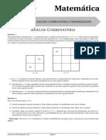 Lista 5 - Análise Combinatória e Probabilidade