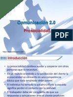 Comunicación 2.0 Pro Socialidad
