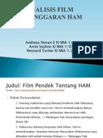 Analisis Film Pelanggaran Ham