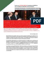 Ollanta Humala Se Reunió Con ANTONIO BRUFAU Presidente de REPSOL y Salomón Lerner, Fundador de HELISUR y Primer Ministro