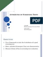 20100707 - Attributes of Screening Tests (Revised)