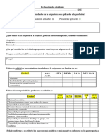 UNRC CI Evaluación Asignatura Cuestionario 2017