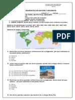 Evaluacion Diagnostica Historia 3