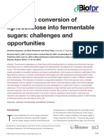 Enzymatic conversion of lignocellulose into fermentable sugars