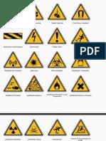 Exemplos de Placas de Sinalização (Segurança)